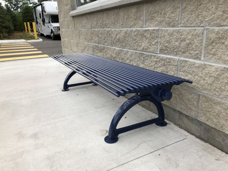Site Visit, Metal Park Bench SPB-401 (Video)
