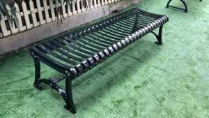 Commercial Outdoor Backless Metal Bench SPB-402 Image 5
