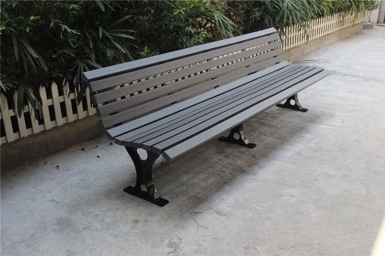 Commercial Recycled Plastic Park Bench SPB-109 Image 1