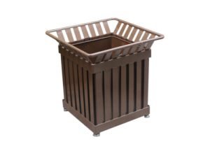 Commercial Outdoor Square Shaped Steel Planter