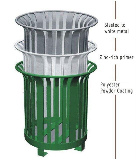 commercial outdoor garbage cans atlanta
