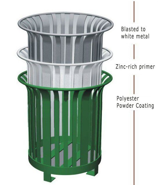 commercial outdoor garbage cans boston