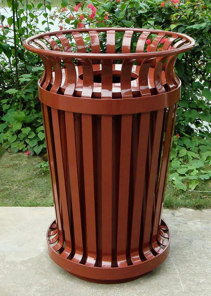 commercial outdoor garbage cans chicago