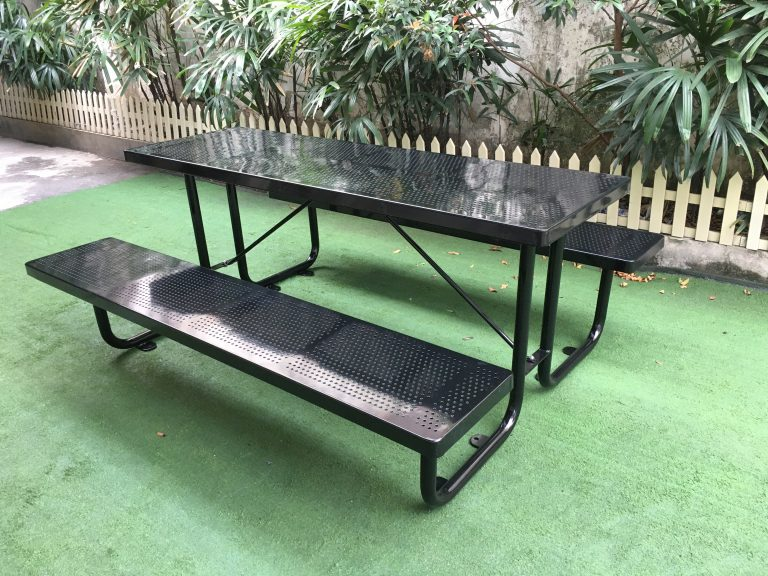 Commercial Outdoor Picnic Table SPP-201 (7) glossy balck, 6' long