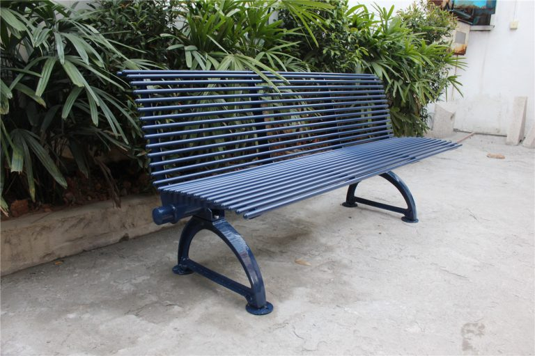 Commercial Outdoor Metal Bench SPB-310 color RAL5003