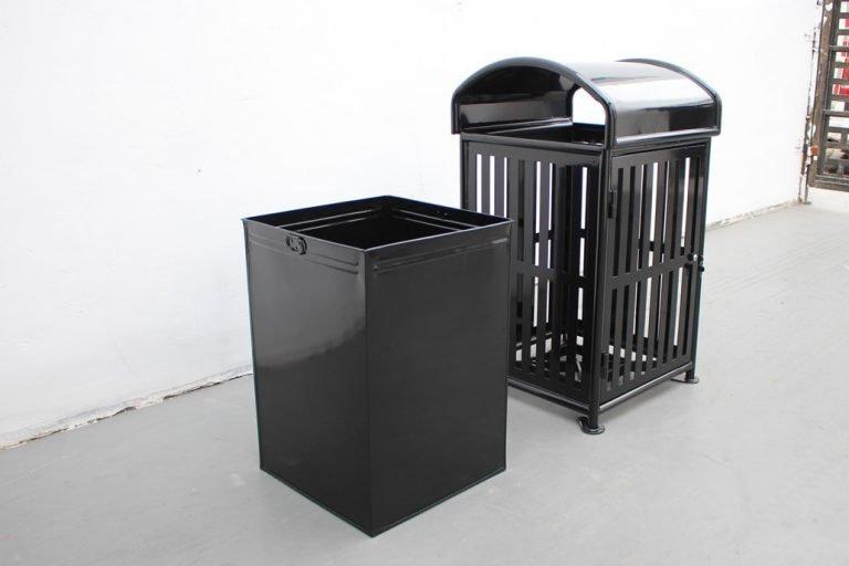 Commercial Outdoor Trash Receptacle SPT-110A black image 1