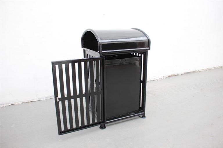 Commercial Outdoor Trash Receptacle SPT-110A black image 3