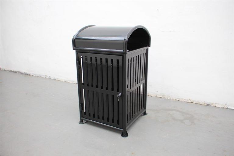 Commercial Outdoor Trash Receptacle SPT-110A black image 4