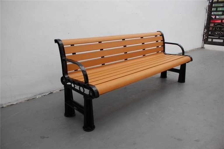 Commercial Recycled Plastic Park Bench SPB-106 Image 4 (P3 recycled plastic lumber)