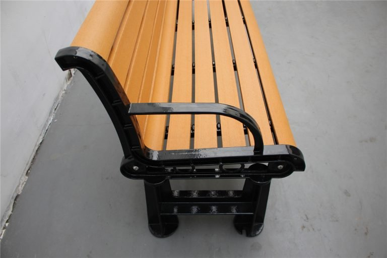 Commercial Recycled Plastic Park Bench SPB-106 Image 6 (P3 recycled plastic lumber)