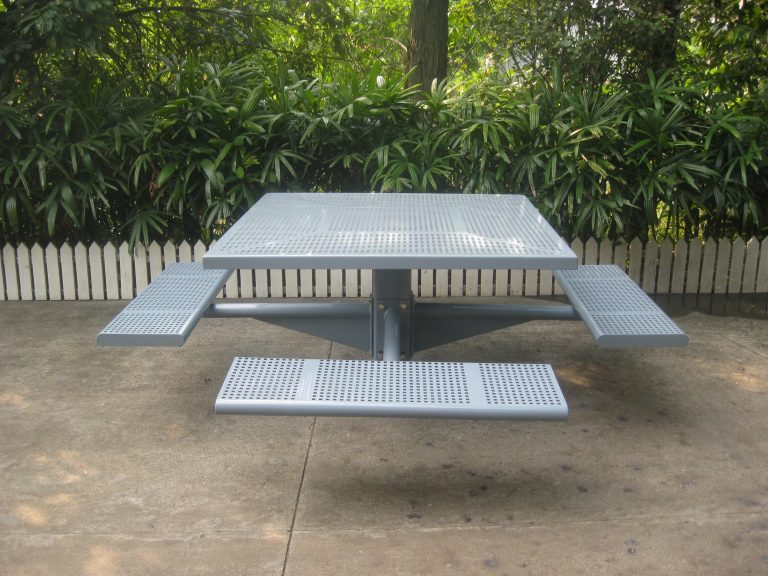 Commercial Steel Picnic Table SPP-104A Image 1