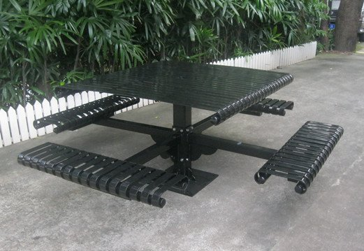 Commercial Steel Picnic Table SPP-104B Image 1