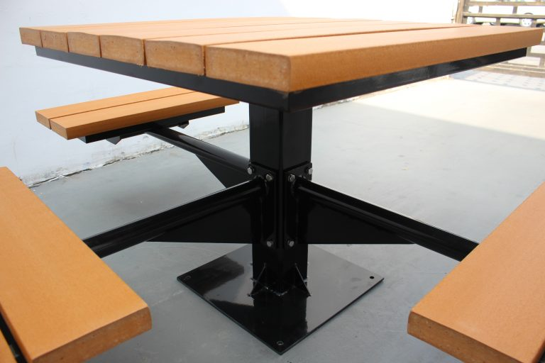 Commercial Outdoor Recycled Plastic Picnic Table SPP-104 image 3