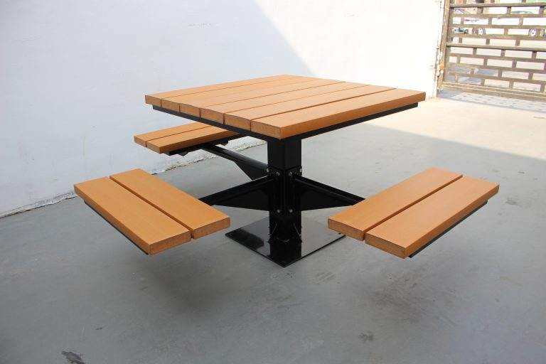 Commercial Outdoor Recycled Plastic Picnic Table SPP-104 image 4