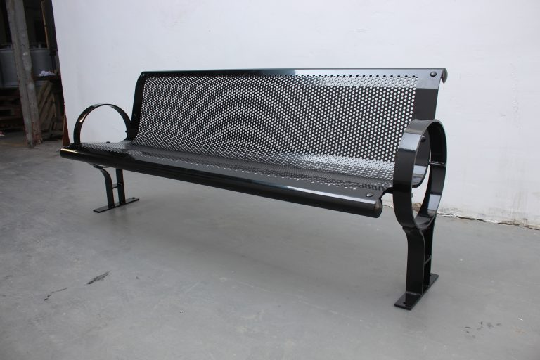 Commercial Outdoor Steel Park Bench SPB-009A Image 2
