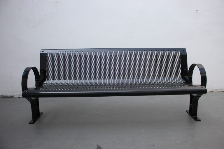 Commercial Outdoor Steel Park Bench SPB-009A Image 5