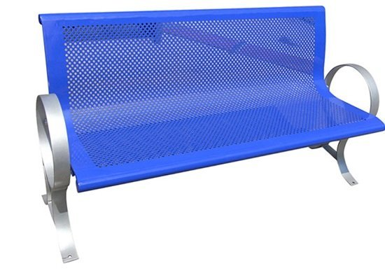 Commercial Outdoor Steel Park Bench SPB-009A Image 4
