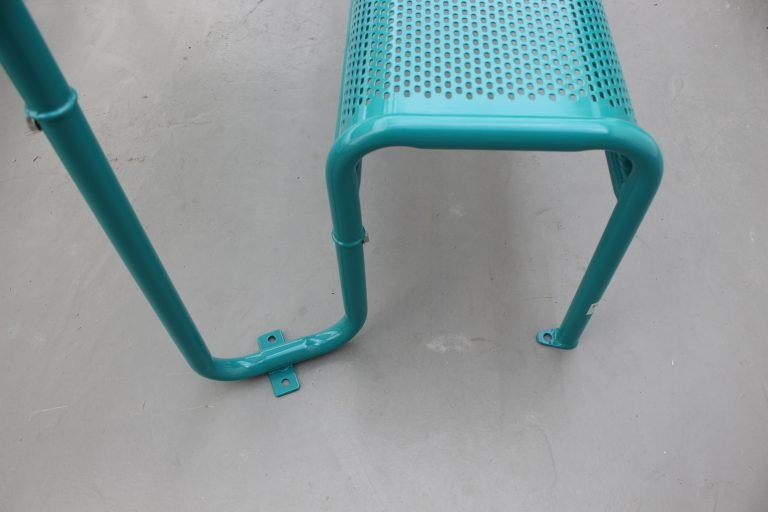 Commercial Recycled Plastic Picnic Table SPP-206 Glossy Water Blue RAL5021 Image (7)