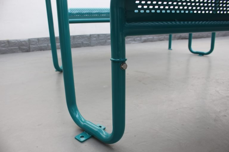 Commercial Recycled Plastic Picnic Table SPP-206 Glossy Water Blue RAL5021 Image (8)