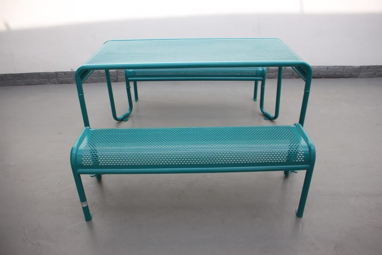 Commercial Recycled Plastic Picnic Table SPP-206 Glossy Water Blue RAL5021 Image (9)