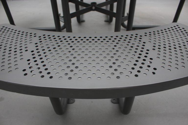 Commercial Steel Picnic Table SPP-203_Powder Coating Color Matt Grey RAL6005 (9)