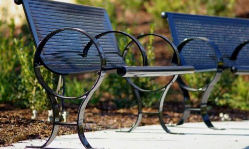 Commercial Outdoor Metal Park Bench SPB-009 Image 2