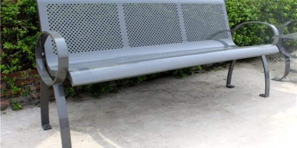 Commercial Outdoor Metal Park Bench SPB-075 Image 1