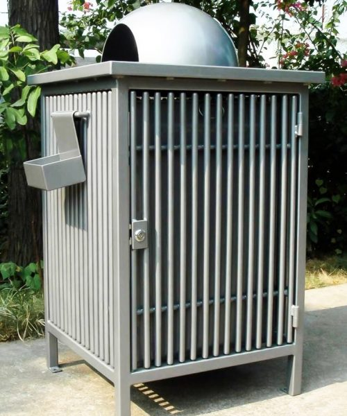 Commercial Outdoor Trash Receptacle SPT-107 Image 1