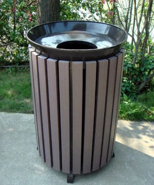 Commercial Outdoor Trash Receptacle SPT-202 Image 1