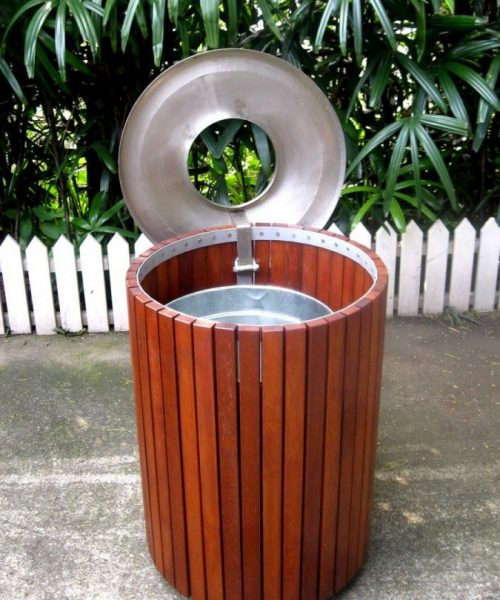 Commercial Outdoor Trash Receptacle SPT-206 Image 3