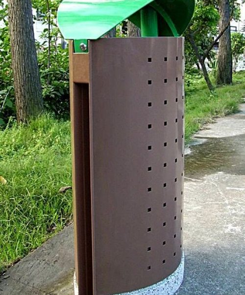 Commercial Outdoor Trash Receptacle SPT-C33 Image 1