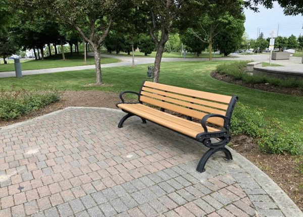 Commercial Recycled Plastic Bench SPB-102 Image 1
