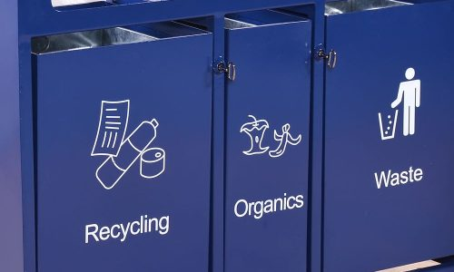 custom logos on recycling container